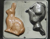 "6 1/4"" Bunny Assembly  Chocolate Candy Mold Easter 1835"