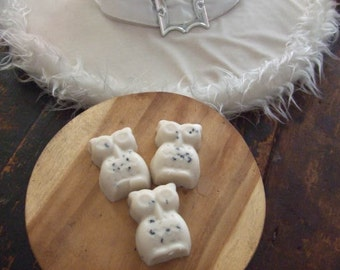 Boo! Spotted Owl Goatmilk Soap amber/sandalwood  scented~ sweet  smooth and smart for your skin~ 3  owls per order