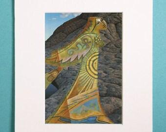 "Print. ""Walker."" 2014 by Kaley D. Johnson"