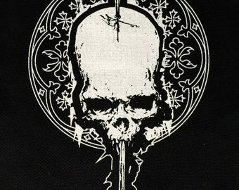 Skull with Arrow Patch | Patches | Punk Patches