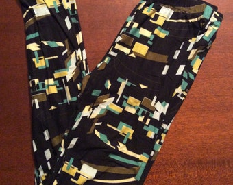 Green Block Leggings