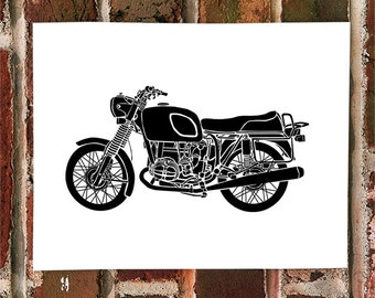 KillerBeeMoto: Limited Print German Engineered Vintage Motorcycle Print 1 of 50