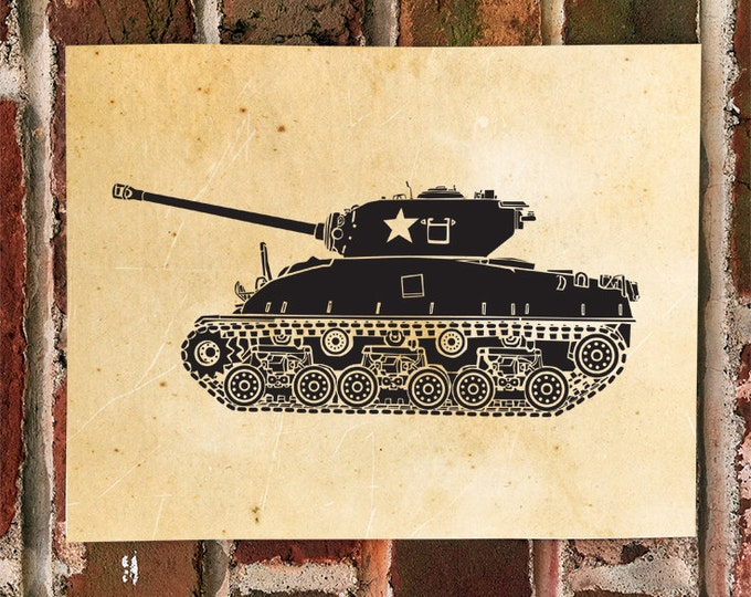 KillerBeeMoto: Limited Print of A Sherman M4 World War 2 Era Tank 1 of 50