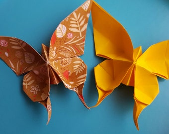 Origami butterflies large