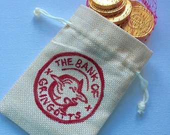 Gringotts bank coin pouch harry potter christmas stocking filler