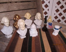 Assorted Lot of 9 Washington Presidential President Bottles Pipes Presidents Washington Lot
