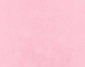 Solid Bright Pink Minky Fabric - By The Yard - Girl / Solid / Minky