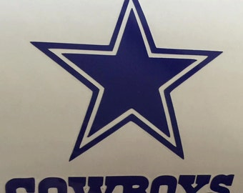 Dallas Cowboys Vinyl Decal- Car Decal- Yeti Decal- Dallas Cowboys - Dallas Cowboys Decal- Dallas