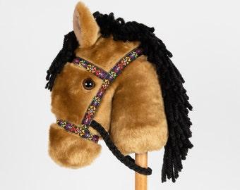 Buckskin Stick Horse -Stick Pony- Hobby Horse