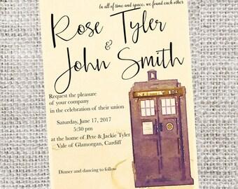 Wedding invitation Doctor Who                            SKU:  DWWEDINV