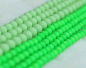 "15.5"" Matte Shell Pearl Beads -- Round Loose Bead Wholesale In 4mm 6mm 8mm 10mm 12mm 14mm"