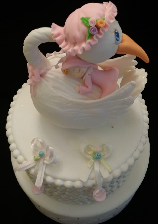 Stork CakeTopper Baby Shower Cake Topper Stork Cake