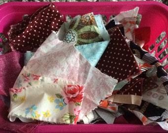 Large bag of fabric scraps