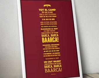 FC Barcelona - El Cant Del Barca Lyrics Poster