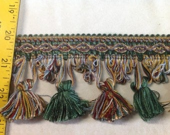 INSTOCK.......Unique Multi Colored Tassel Fringe Trim.......NEW........Way Below Wholesale