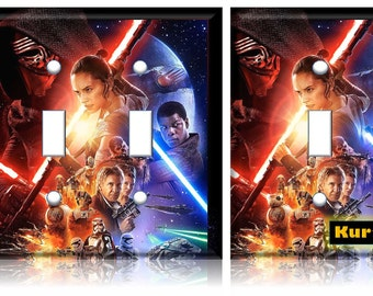 Star Wars Light Switch Cover The Force Awakens poster // Personalized // SAME DAY SHIPPING**