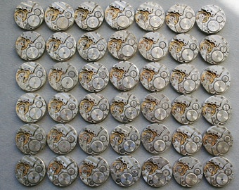"1 "" .  Set of 42  Similar  Vintage Soviet Watch movements, steampunk parts"