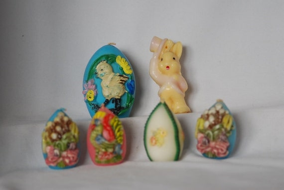 Vintage Gurley & German Egg Candles