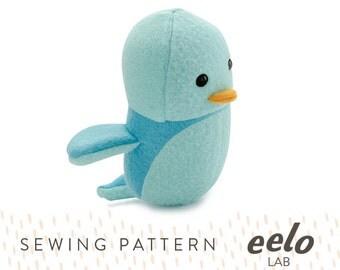 Sewing Pattern PDF for Stuffed Animal -- Rizzo the Bird
