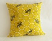 Cover ONLY Bee Throw Pillow