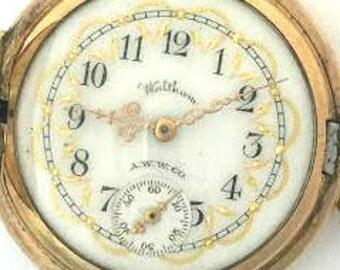 Rare Antique Watham A.W.W. Co. Ladies Pocket Watch 1900's