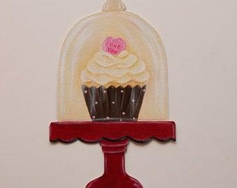 Cupcake decor; Cupcake art; Cupcake wall decor; Bakery decor; Bakery art; Kitchen wall art; Cupcake wall art; Wall decor; kitchen decor