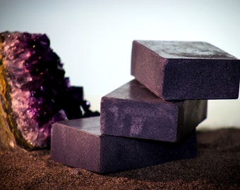 """Handmade Organic Activated Charcoal Soap """"EARTH"""""""