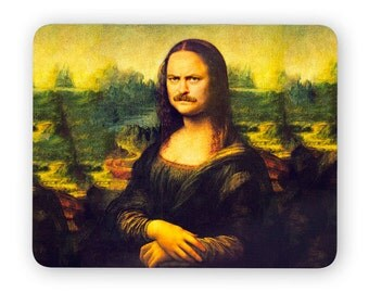 Mona Ron, Ron Swanson, Nick Offerman - funny desk mouse pad, meme mouse pad, comptuer mouse pad, desk accessory mouse mat 3M030