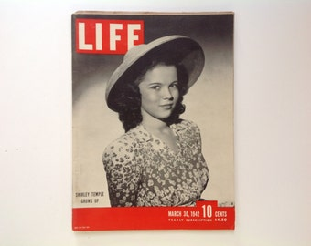 40s Life magazine Shirley Temple grows up