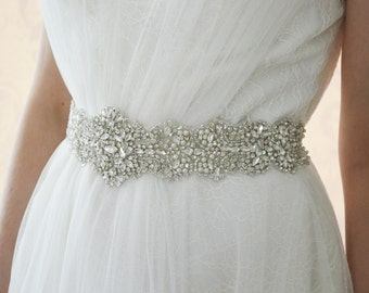 ADELINE Wedding Dress Belt,Bridal Sash,