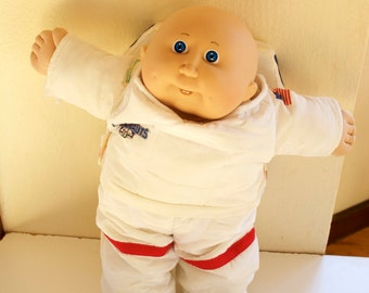 Cabbage Patch Kid Vintage Astronaut Doll Bald Blue Eyes Teeth 1986