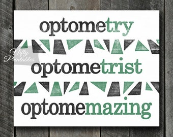 Optometrist Print - INSTANT DOWNLOAD Optometry Art - Optometrist Poster - Funny Optometrist Gifts - Optometry Decor Wall Art - Office Decor