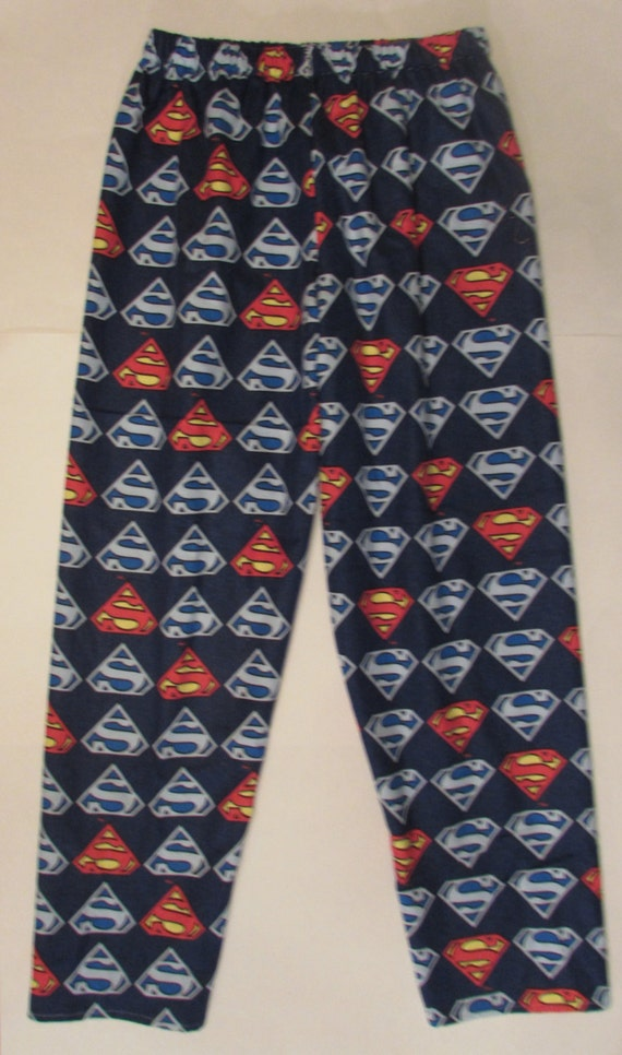 Superman pajama bottoms/ flannel / Kids, women, and men / warm/ comfortable/ size 1T to xxl men
