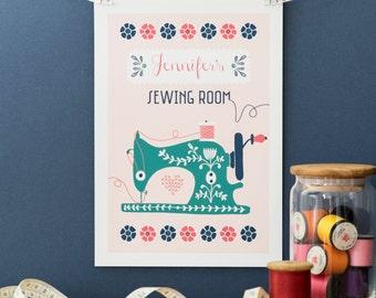 Personalised Sew Happy Print
