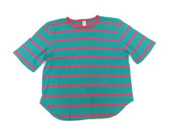 90s Stripped Neon T-Shirt