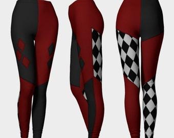 Harlequin Leggings (harley quinn inspired)