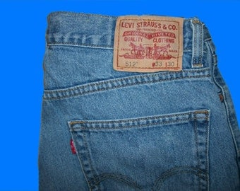 Levis 512 Slim Fit  33 W x 30 L  Vintage Made in USA