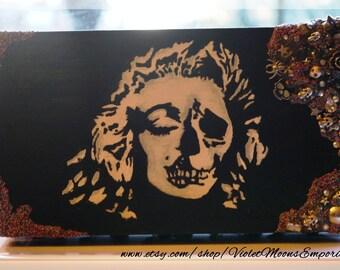 Marilyn monroe skull Etsy
