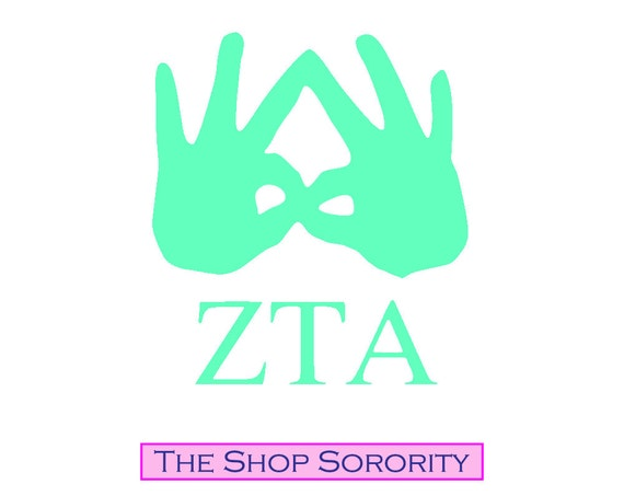 Zeta Tau Alpha Hand Si...