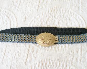 Vintage Silver and Grey Stretch Belt