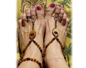 Boho Barefoot Sandals & Tribal Foot Jewelry