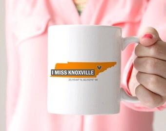 I Miss Knoxville Coffee Mug, Vols, Go Vols, Tennessee Vols, University of Tennessee, Knoxville Tennessee, Rocky Top, Tennessee Volunteers