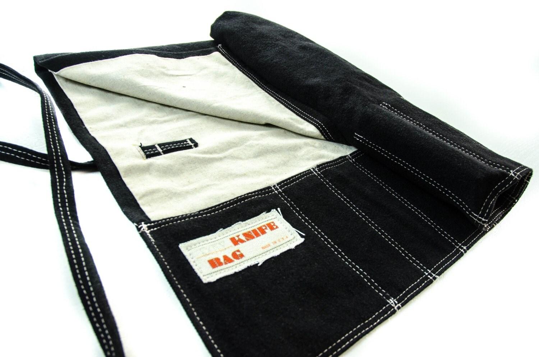 knife bag hemp canvasblack white chef knife roll washable. Black Bedroom Furniture Sets. Home Design Ideas