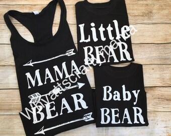 Mama Bear and little bear baby bear set
