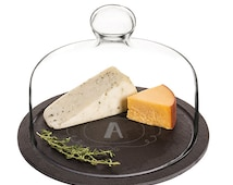 Personalized Slate Tray with Glass Dome in stock on (10/31/16)