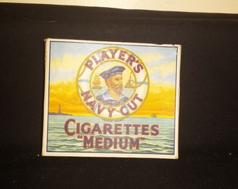 Vintage Player's Navy Cut Cigarette Package. 'Medium'. Full of Old Stamps!