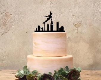 Peter Pan Birthday Cake Topper, Custom Peter Pan Cake Topper, Peter Pan Birthday Party Supplies, Birthday Party Decor, disney Party Decor