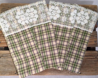 Upcycled Cloth Napkins - Set of 4