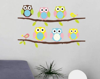 Removable Wall Stickers - Owls and Branches - AW1020
