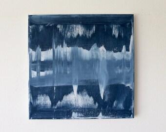 Summer Blues. Acrylic on Canvas 12'' x 12''